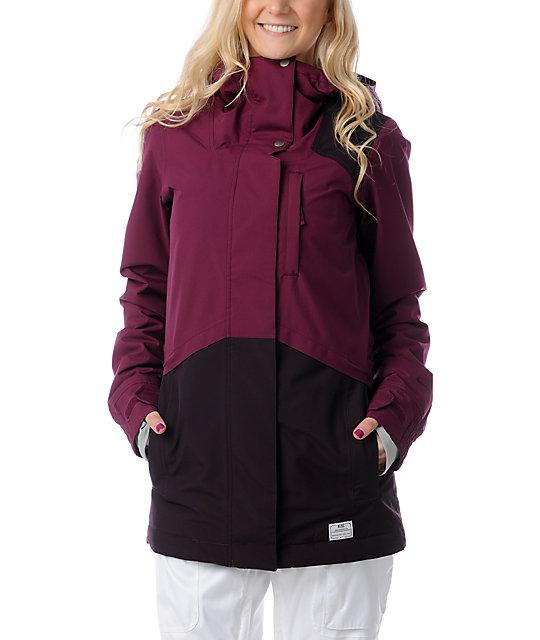 Nike Swick Berry & Burgundy 10K Snowboard Jacket