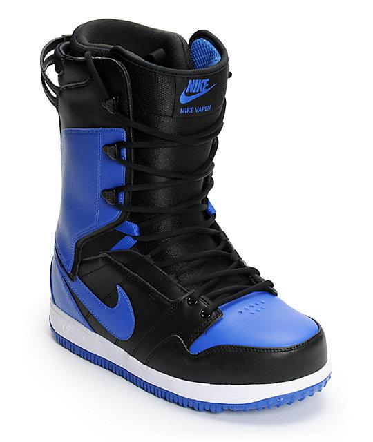 Nike Vapen Black, White & Varsity Royal Snowboard Boots at