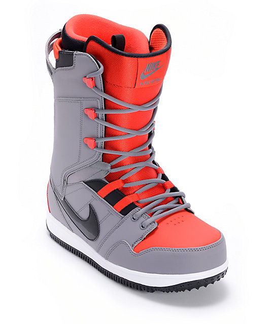 Nike Vapen Charcoal, Black & Challenge Red Snowboard Boots