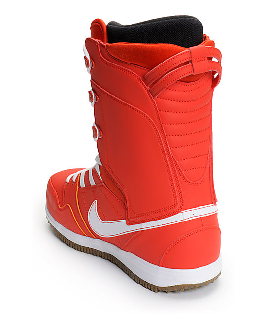 Nike Vapen Gamma Orange, Gum Medium Brown, & White Snowboard Boots
