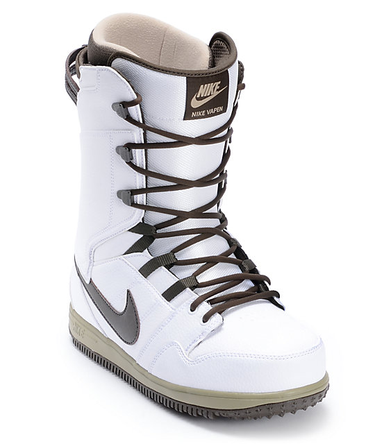 Nike Vapen White & Smoke Snowboard Boots