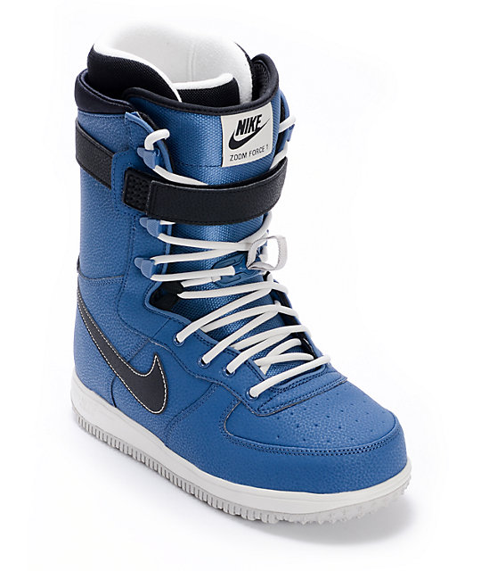 Nike Zoom Force 1 Utility Blue & Bone Snowboard Boots