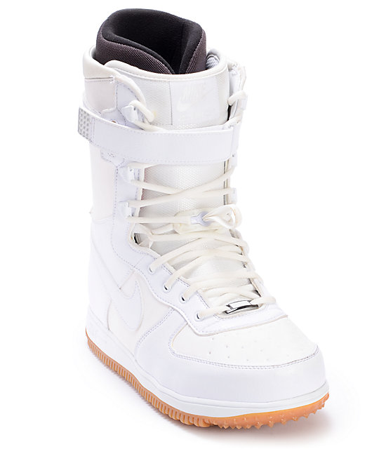 Nike Zoom Force 1 White Mens Snowboard Boots