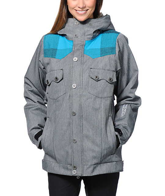 Nikita Mayon Grey 10K Snowboard Jacket