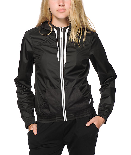 Ninth Hall Albion Black Perforated Windbreaker Jacket | Zumiez