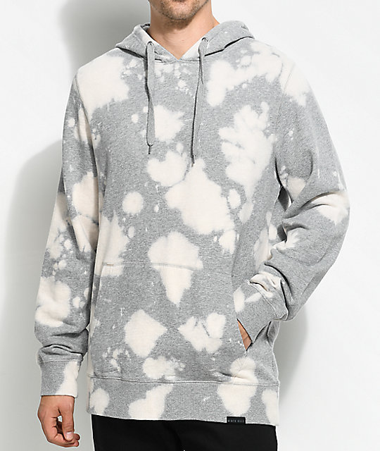 Ninth Hall Bleach Heather Grey Pullover Hoodie | Zumiez