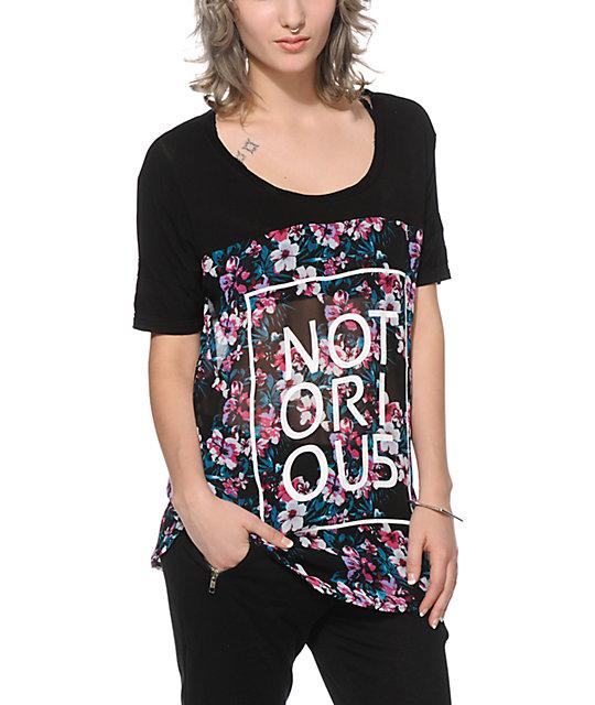 Ninth Hall Carter Notorious Floral Chiffon T-Shirt