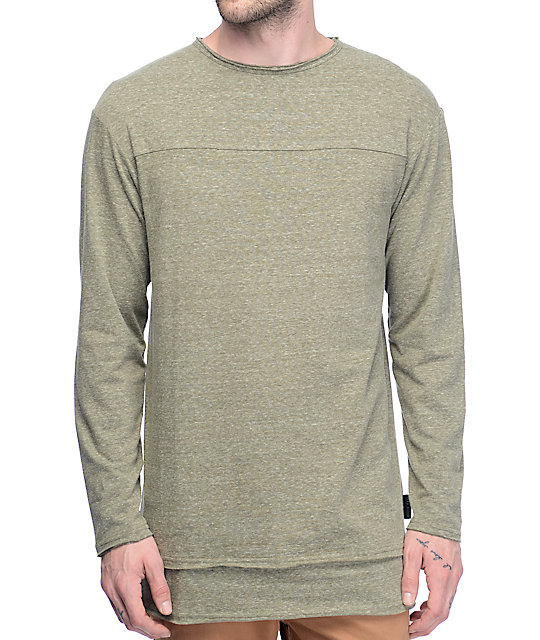 Ninth Hall Cedar Olive Long Sleeve T-Shirt