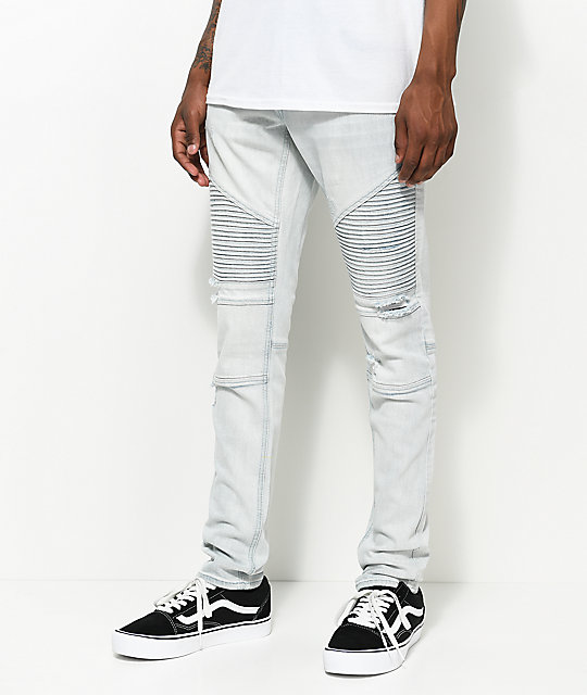 Hall Decoy Moto Light Aged Destructed Jeans