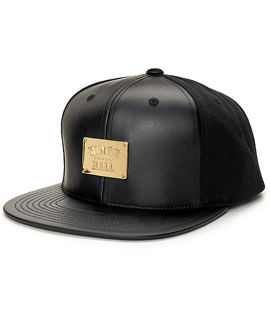 Ninth Hall Gold Plaque Black Snapback Hat