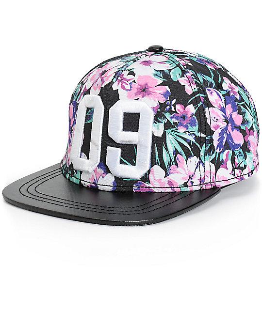 Floral Snapback Hats For Girls 09 Floral Snapback Hat at