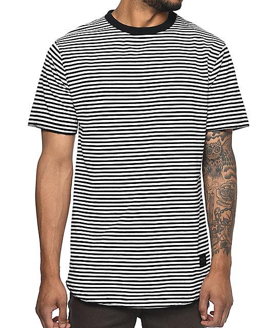 Hall Lenon Black & White Striped T-Shirt