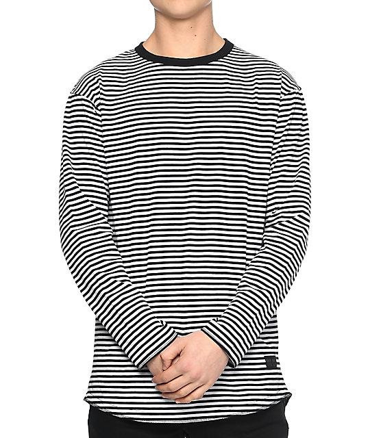 Hall Lynyrd Long Sleeve Black & White T-Shirt