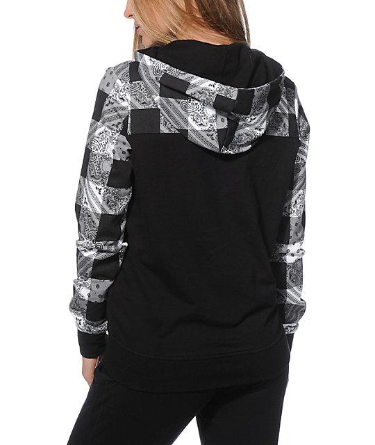 Black bandana hoodie