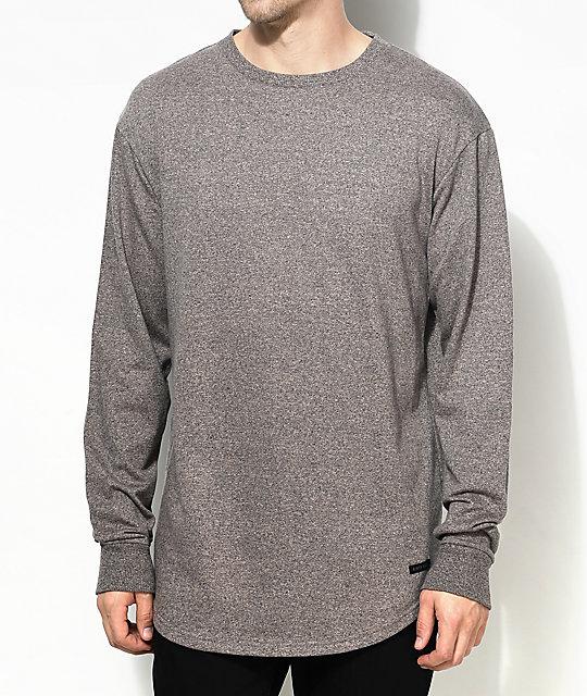 Ninth Hall Scrunch Brown Long Sleeve Knit Shirt