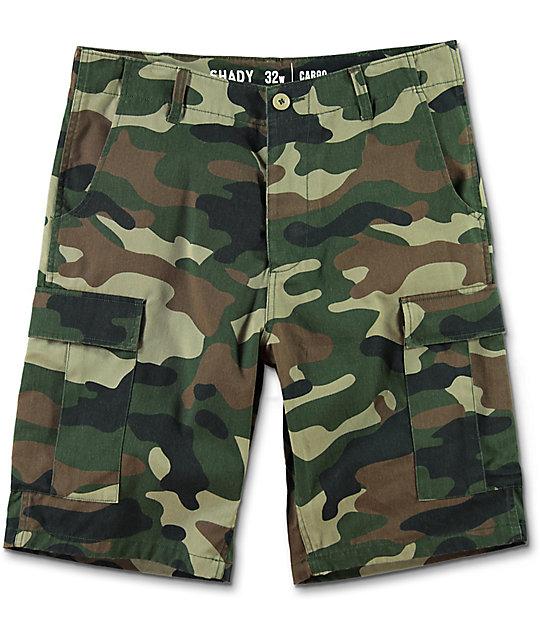 Ninth Hall Shady Camo Cargo Shorts