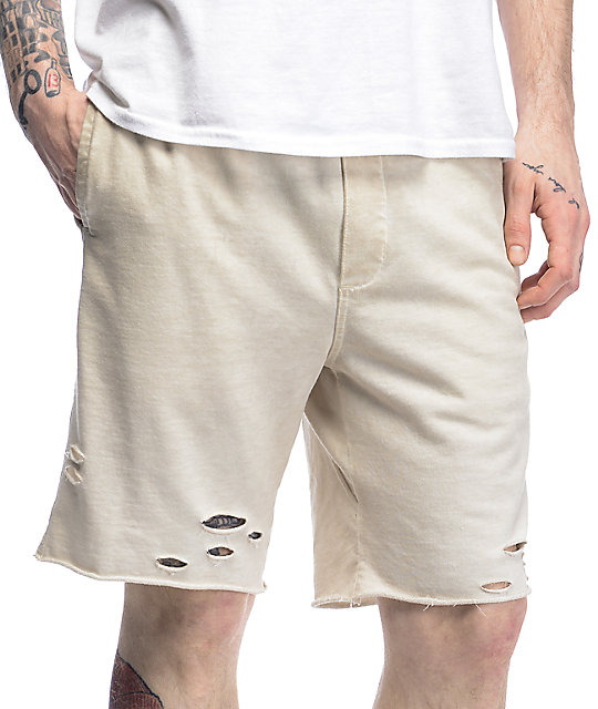 Ninth Hall Shredder Off White Destroyed Walkshorts