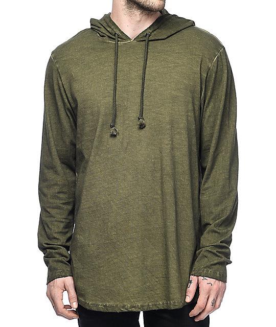 Olive Green Hoodie Mens Hardon Clothes