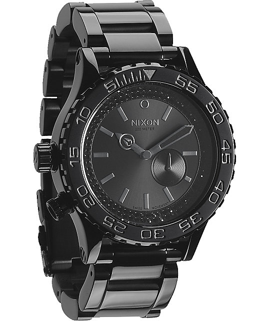 Nixon 42-20 Tide Black & Crystal Watch