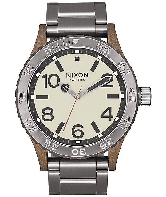 Nixon 46 Bronze & Gunmetal Watch