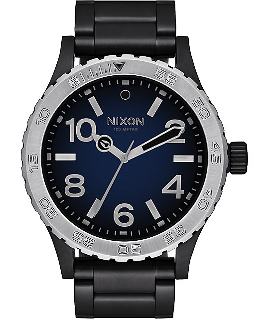 Nixon 46 Ombre Black & Blue Watch