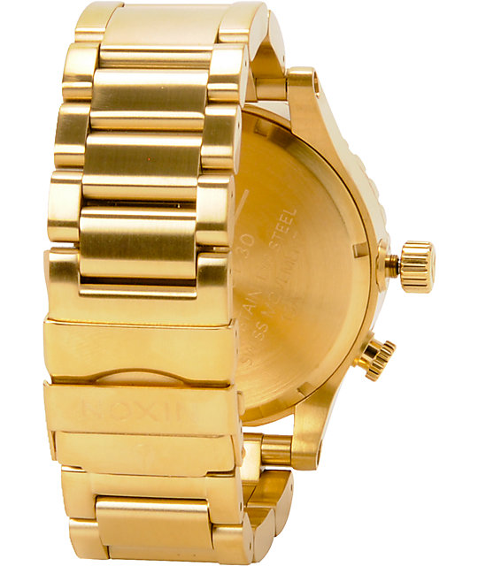 Nixon 51-30 All Gold Watch