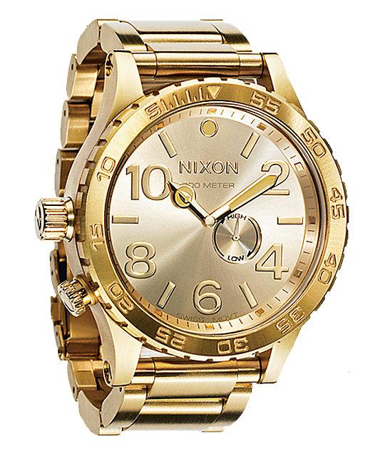 Nixon 51-30 All Gold Watch