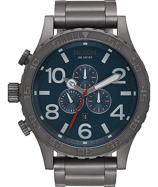 Nixon 51-30 Chrono All Gunmetal & Dark Blue Watch