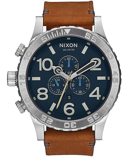 Nixon 51-30 Chrono Leather Analog Watch