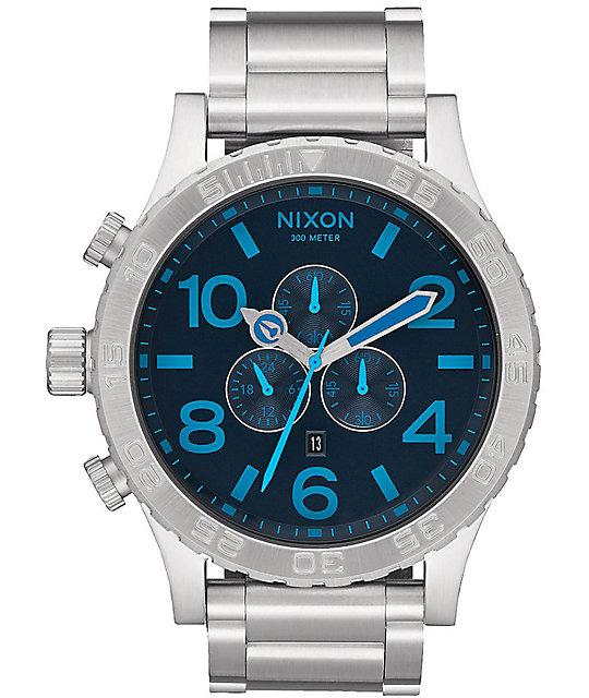 Nixon 51-30 Dark Blue Chronograph Watch