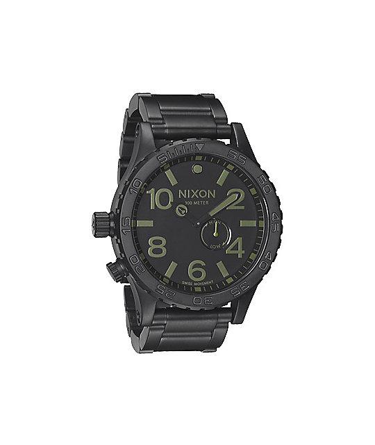 Nixon 51-30 Matte Black & Surplus Analog Watch