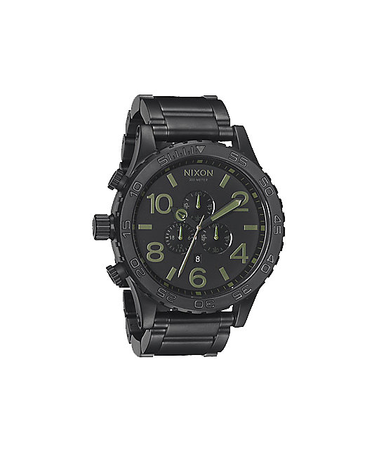 Nixon 51-30 Matte Black Surplus Chronograph Watch
