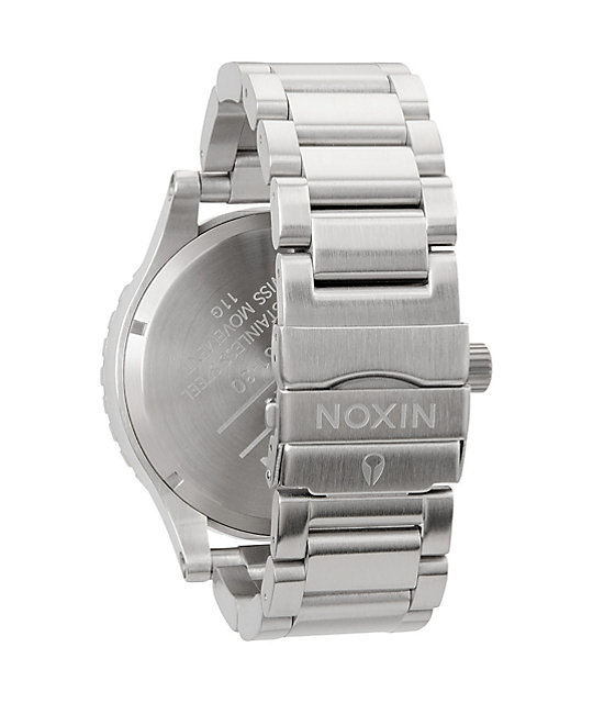 Nixon 51-30 Tide Silver & White Analog Tide Watch
