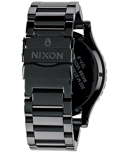 Nixon 51-30 Tide Steel Grey & Orange Analog Watch