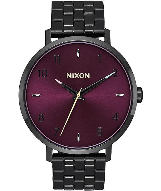 Watch Links Nixon Purple: Nixon Arrow Black & Purple Watch At Zumiez : PDP