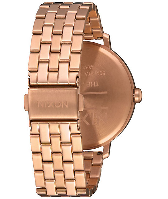 Nixon Arrow Rose Gold & Brown Watch