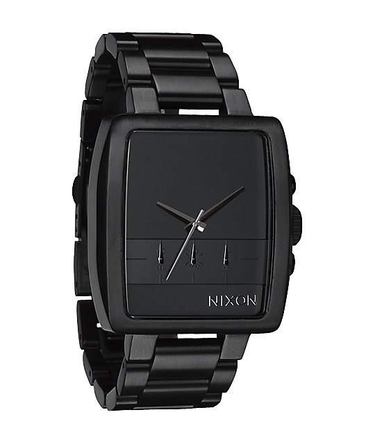 Nixon Axis All Black Chronograph Watch
