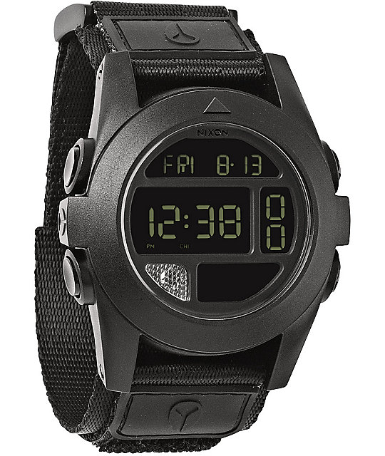Nixon baja all black compass watch for Watches with compass