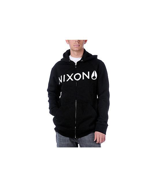 Nixon Basis Black Zip Up Hoodie