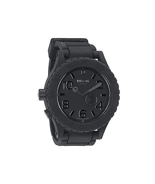 Nixon Black Rubber 51-30 Mens Analog Watch