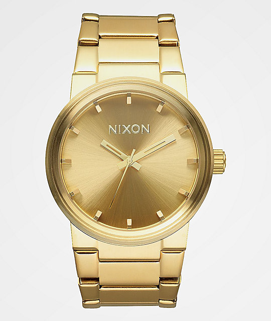 nixon cannon gold analog