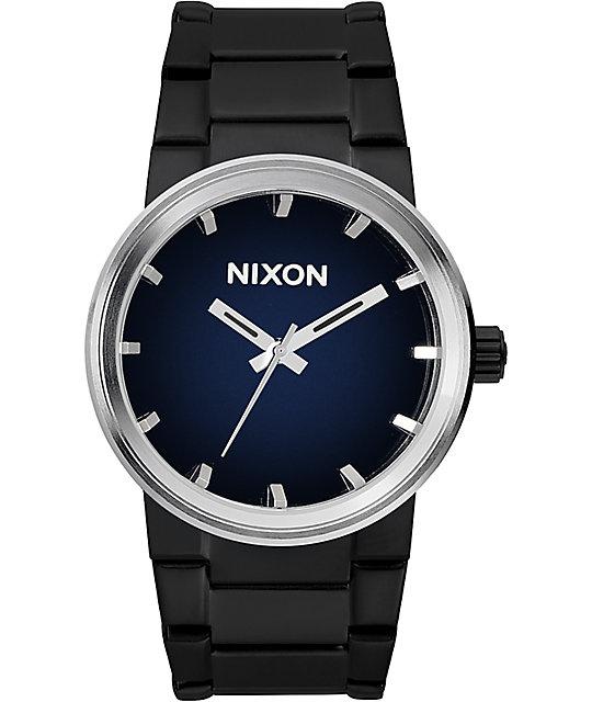 Nixon Cannon Ombre Black & Blue Watch