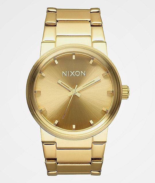 Nixon Analógico De Oro Cannon Reloj XkiuZP