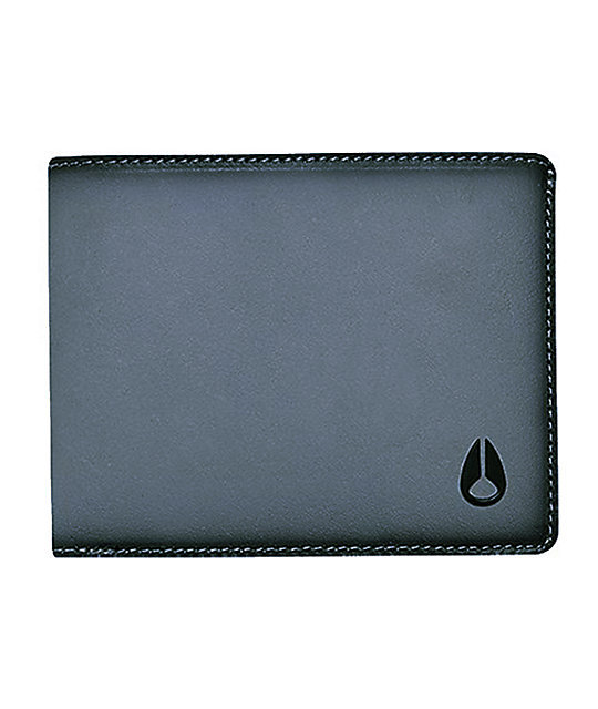 Nixon Cape Black & Grey Textured Bifold Wallet