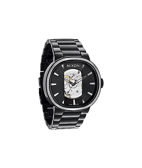 Nixon Capital Automatic All Black Mens Watch