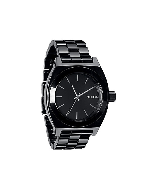 Nixon Ceramic Time Teller Black Analog Watch