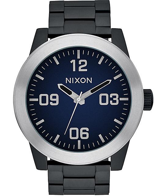 Nixon Corporal Ombre Black & Blue Watch