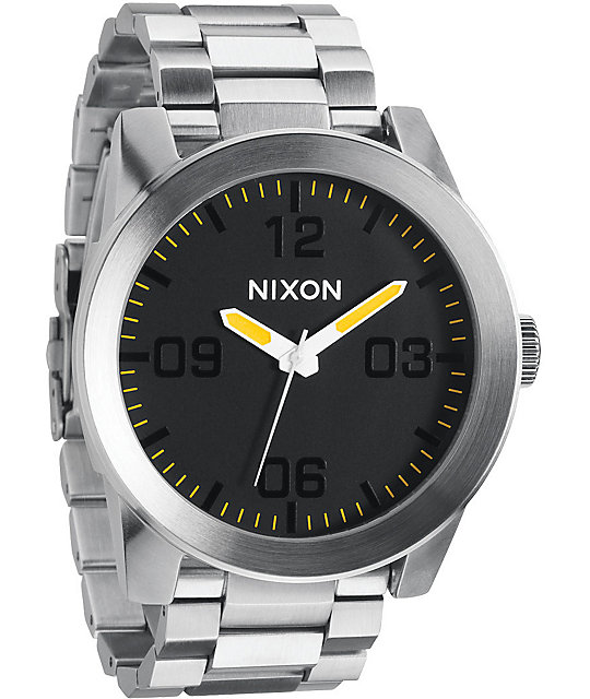 Nixon Corporal SS Grand Prix Analog Watch