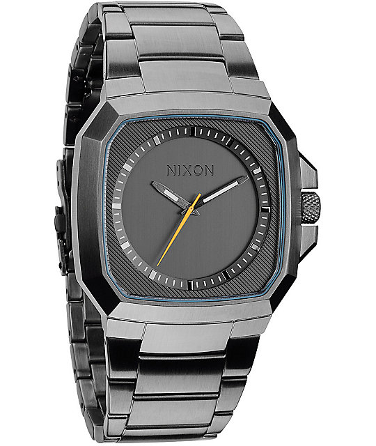 Nixon Deck All Gunmetal Analog Watch