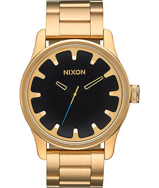 Nixon driver all gold black watch at zumiez pdp for Watches zumiez